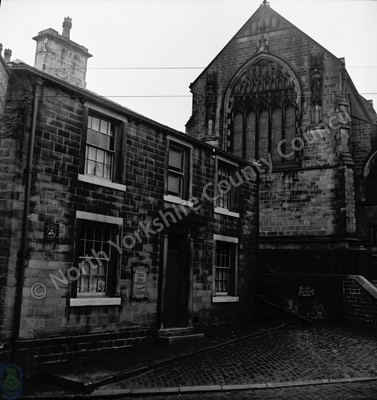 Black Bull and Haworth Church
